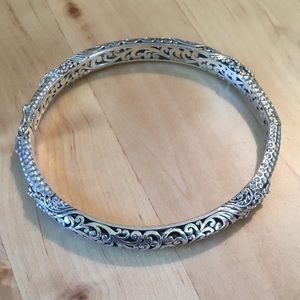 Sterling Filigree Bangle Bracelet Bali